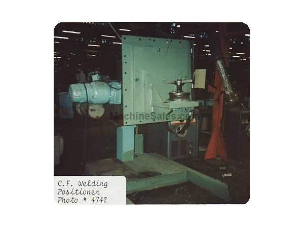 6000 Lb., CULLEN & FRIEDSTEDT MODEL #60 WELDING POSITIONER