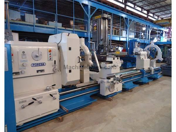 "61"" Swing 204"" Centers Poreba TR155B2/5M ENGINE LATHE, Inch/Metric, Taper, (2) Steady Rests, Rapid, 50 HP"