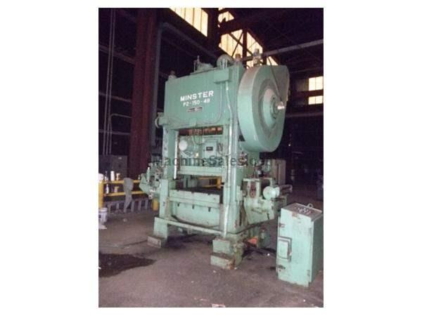 150 Ton Minster P2-150-48 Straight Side Double Crank Press