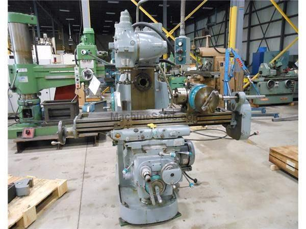 CINCINNATI 205 12-MI HORZ MILL w/ MOTORIZED OVER ARM &  VERT HEAD 12&qu