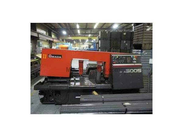 "MODEL HFA 500S AMADA HORIZONTAL BAND SAW,20""x20"" AUTO FEED NEW 1995"