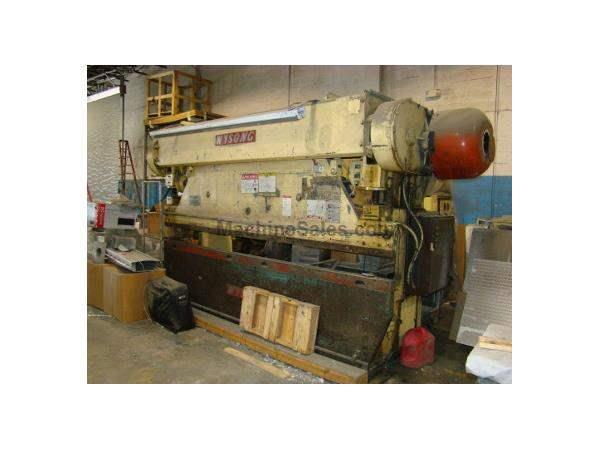 90 Ton, WYSONG, No. 90-10, 12' OA, 10'6 BH, full length die rail, 1977