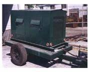 75 KVA, JOHN REINER, 180/90 Amps, gas, on portable trailer