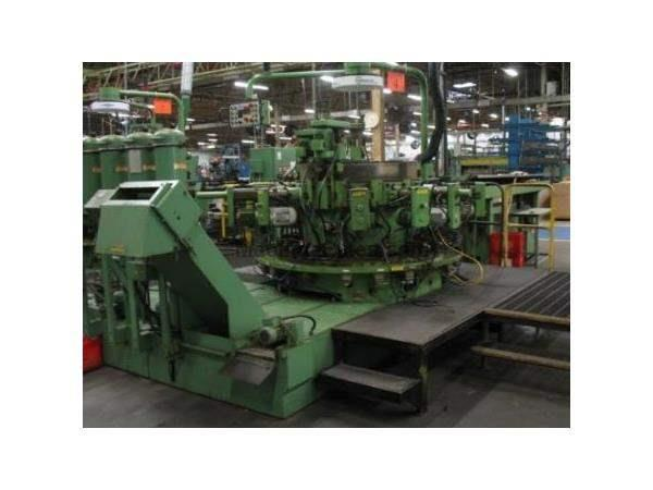 Hydromat, No. HB 45-12, 12-Sta. Chuck Jaw w/Bar Loader, 10-H & 3-V Units, 1997