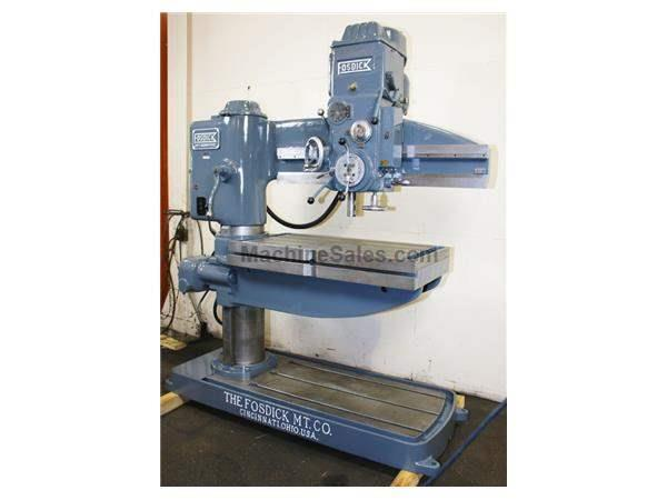 "4' Arm Lth 12"" Col Dia Fosdick Sensitive RADIAL DRILL, Elevating Table, 3 HP,Tapping, #4MT"