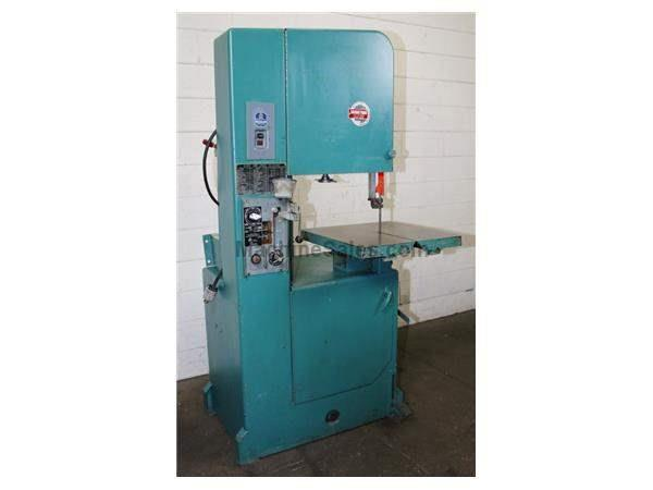"20"" Throat 12"" Height Roll-In J20W VERTICAL BAND SAW, Vari-Speed, Gravity Table Feed, 1"" Balde, 1 HP,"