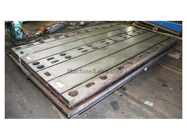 10' Length 3' Width Unknown TWO AVAILABLE FLOOR PLATE, T-Slotted Cast Iron, Keyed to Work Together