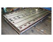 10' Length 3' Width Unknown TWO AVAILABLE FLOOR PLATE, T-Slotted Cast Iron, Keyed to Work