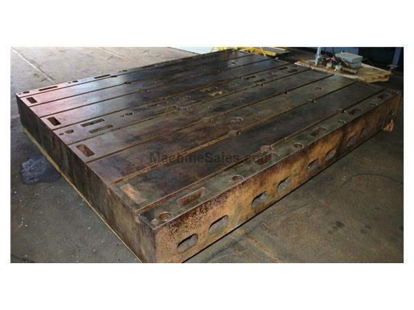 10' Length 4' Width Unknown 2 Available FLOOR PLATE, T-Slotted Cast Iron, Keyed to Work Together