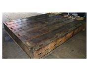 10' Length 4' Width Unknown 2 Available FLOOR PLATE, T-Slotted Cast Iron, Keyed to Work To
