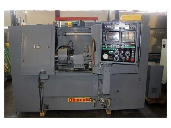 "10.6"" Swing 7.9"" Stroke Okamoto 1GM-ENC CNC ID GRINDER, FANUC 11TA CNC, FULL ENCLOSURE, 19.7"" TABLE TRAVEL"