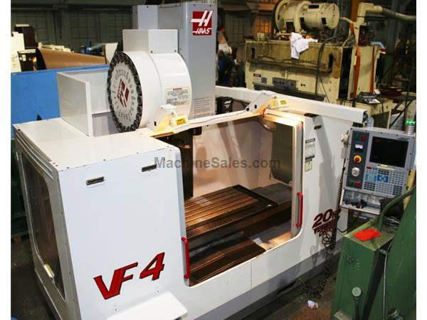 50 x axis 20 y axis haas vf4b vertical machining center for Table 52 schaumburg