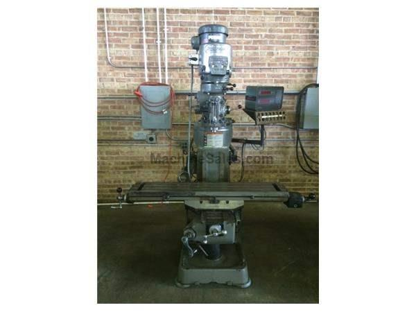 "Bridgeport 2HP Vertical Milling Machine, 9"" x 48"" Table & 2-A"