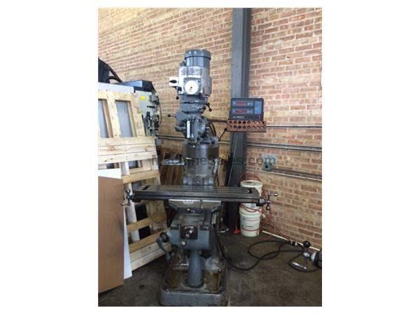 Bridgeport 1-1/2 HP Vertical Milling Machine with Re-worked Head. Runs grea