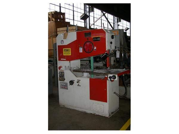 Dake Vertical Bandsaw, Model- VH-40 with Hyd Table. New in 1994 & Clean