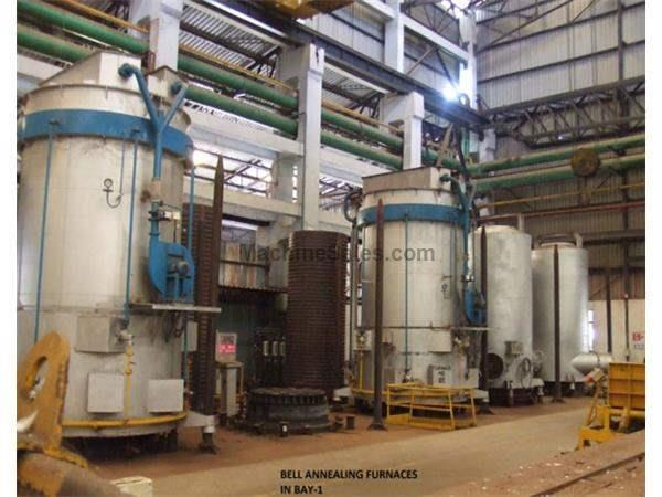 "63""Dia x 158""H., APEX LPG GAS-FIRED BELL FURNACES, 3 FURNACES 8 BASES (12354) Machinery International"