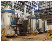 """63""""Dia x 158""""H., APEX LPG GAS-FIRED BELL FURNACES, 3 FURNACES 8 BASES (12354) Ma"""