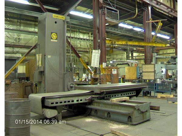 "5"" Spindle 108"" X Axis Giddings & Lewis 70D5T HORIZONTAL BORING MILL, #50 PDB, H"
