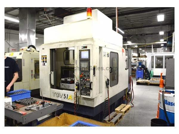 "20"" X Axis 12.5"" Y Axis YCM TCV-51A VERTICAL MACHINING CENTER, Fanuc MXP-100i Control, Automatic Pallet Changer"