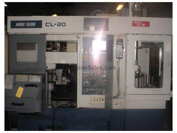 Mori Seiki CNC Lathe CL20B with Automatic gantry loading system Fanuc 18 T