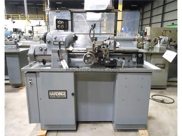 "HARDINGE MODEL HLV-H-EM PRECISION  TOOLROOM LATHE, 11"" X 18"""