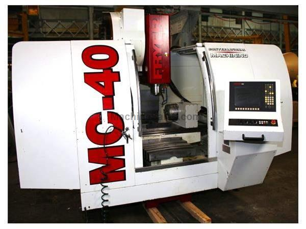 "40"" X Axis 25"" Y Axis Fryer MC-40 w/ 9"" 4th Axis & Tailstock VERTICAL MACHINING CENTER, Frye Anilam xis Control,4th Axis"