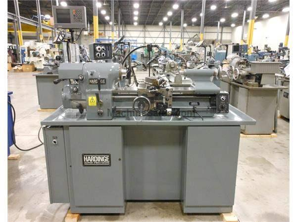 "2002 HARDINGE HLV-H ENGINE LATHE, 11"" X 18"", LIKE NEW"