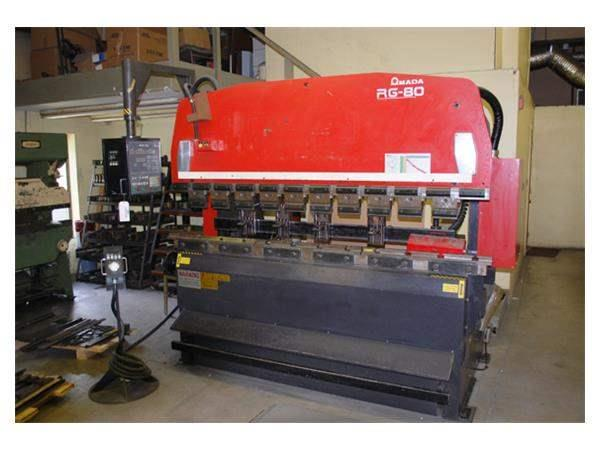 88 Ton Amada RG80 3-Axis CNC Upacting Hydraulic Press Brake