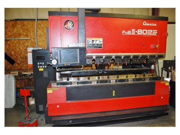 88 Ton AMADA FBD-III 8025NT 7-Axis Hydraulic CNC Up-Acting Press Brake