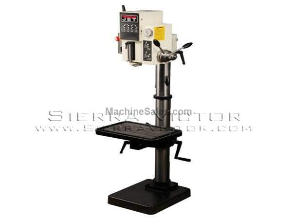 "20"" JET® Arboga Gear Head Drill Press with Powerfeed"