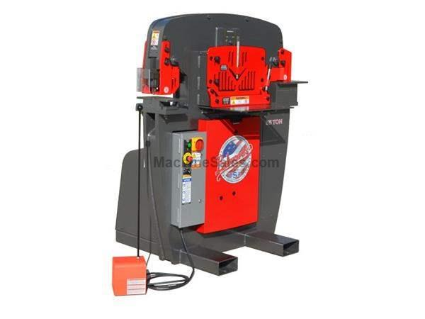"55 Ton 7.5"" Throat Edwards 55 Ton *Made in the USA* NEW IRONWORKER, Universal Open Tooling Station; 5 HP"