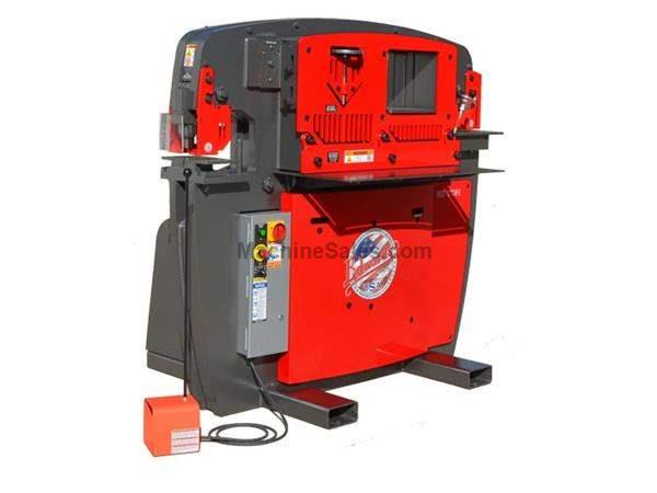 "65 Ton 9.75"" Throat Edwards 65 Ton *Made in the USA* NEW IRONWORKER, 5 station; 24"" flat bar shear; coper notcher;7.5HP"