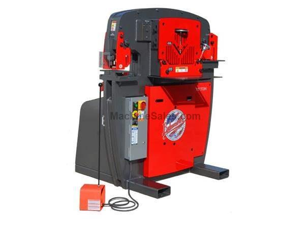"75 Ton 10"" Throat Edwards 75 Ton *Made in the USA* NEW IRONWORKER, Dedicated Coper Notcher Station; 7.5 HP"