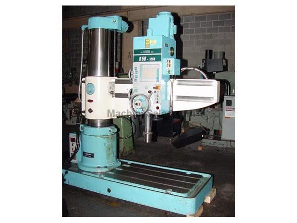 "4' Arm Lth 12"" Col Dia Breda R50-1250 RADIAL DRILL, Power Elevation & Clamping, #5MT, 6.5 HP,T-Slotted"