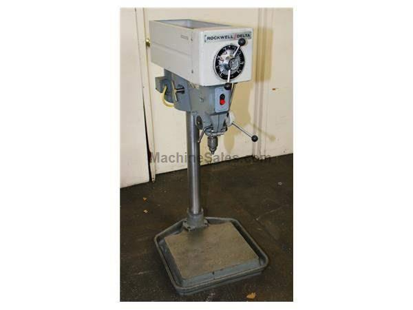 "15"" Swing 0.75HP Spindle Rockwell 15-655 Bench Top DRILL PRESS, Vari-Speed, Jacobs Drill Chuck, Counter Balance He"