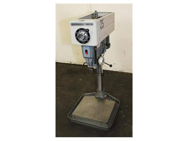 "15"" Swing 0.75HP Spindle Rockwell 15-655 Bench Top DRILL PRESS, Vari-Speed, Jacobs Drill Chuck, Counter Balance"