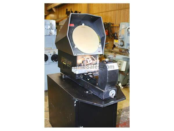 "14"" Screen Suburban MV-14 OPTICAL COMPARATOR, 20X LENS, DIGITAL LED DISPLAYS, CABINET"