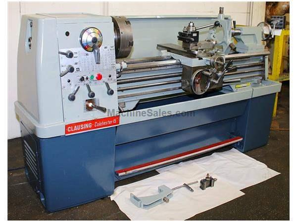 "15"" Swing 50"" Centers Clausing-Colchester 8031 ENGINE LATHE, Inch/Metric,6-Jaw B"