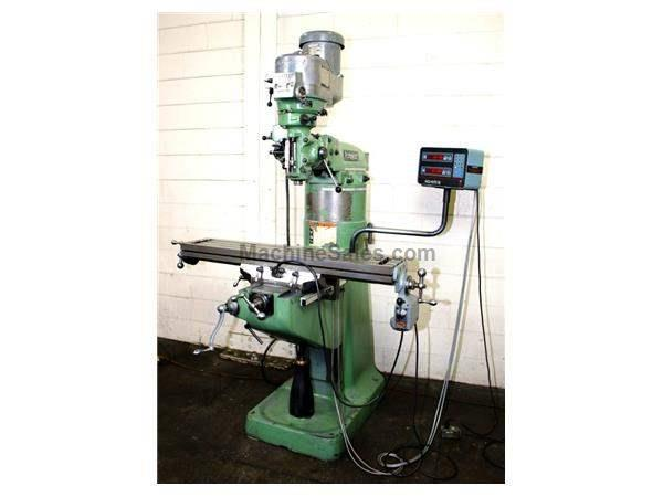 "48"" Table 2HP Spindle Bridgeport SERIES I VERTICAL MILL, Vari-speed,R-8,Acu-Rite DRO,"