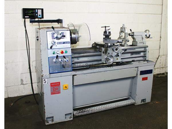 "14"" Swing 40"" Centers Sharp 1440 ENGINE LATHE, Inch/Metric, Gap, Fagor DRO, Tape"