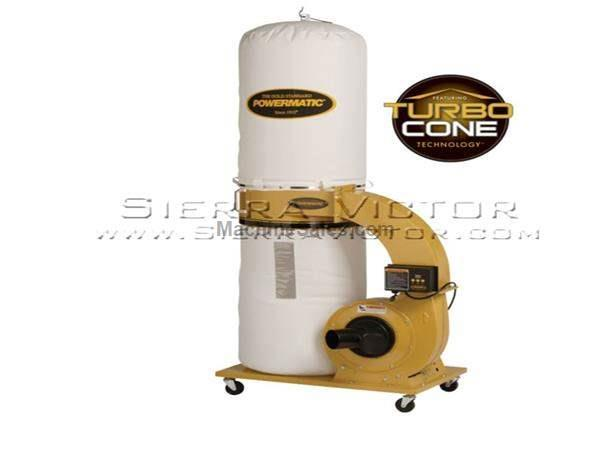 1,064 CFM POWERMATIC® PM1300TX-BK Dust Collector with Bag Filter Kit