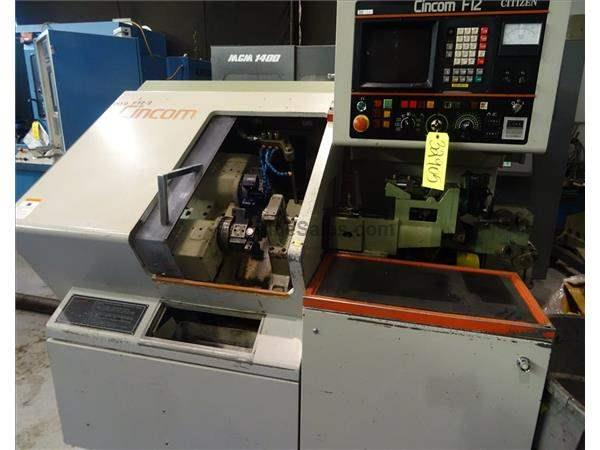 CITIZEN F12 AUTOMATIC SWISS TYPE CNC SCREW MACHINE