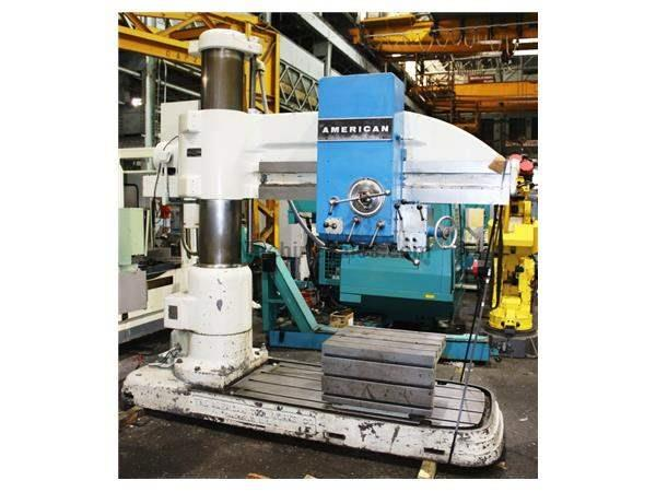 "6' Arm Lth 15"" Col Dia American 6'x15"" RADIAL DRILL, #5MT, 15 HP, Power Elevation & Clamping, T-Slotted"