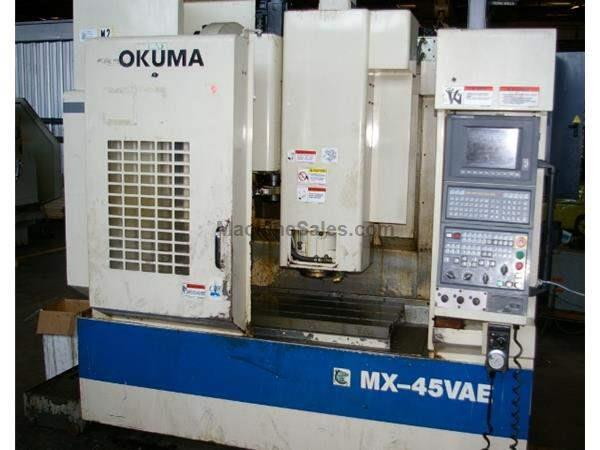 OKUMA #MX-45VAE CNC VERTICAL MACHINING CENTER
