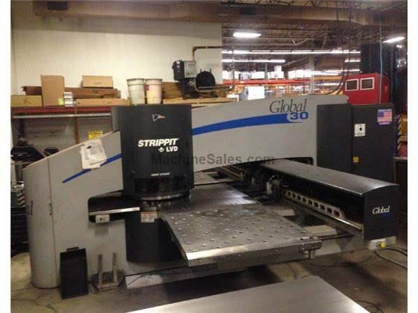 LVD-STRIPPIT GLOBAL-30,33-TONS,30-STN THICK TURRET,3-AUTO INDEX,FANUC-180I,