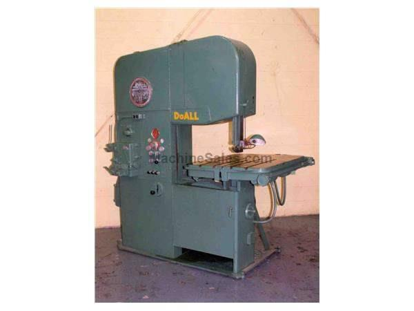 "26"" DOALL VERTICAL BANDSAW:  STOCK #4682"