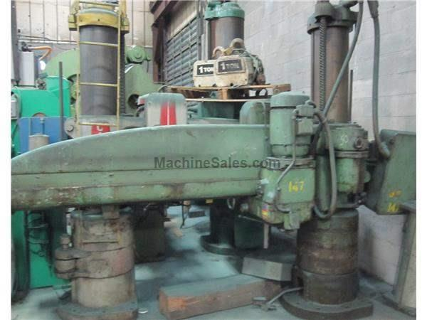 "7' X 13"" CARLTON RADIAL ARM TRACK DRILL:  STOCK #5634"