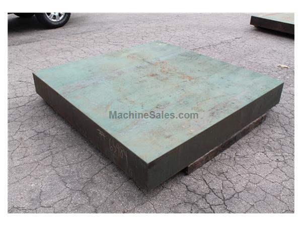 "6'6"" X 6' CAST IRON SURFACE PLATE:  STOCK #10745"