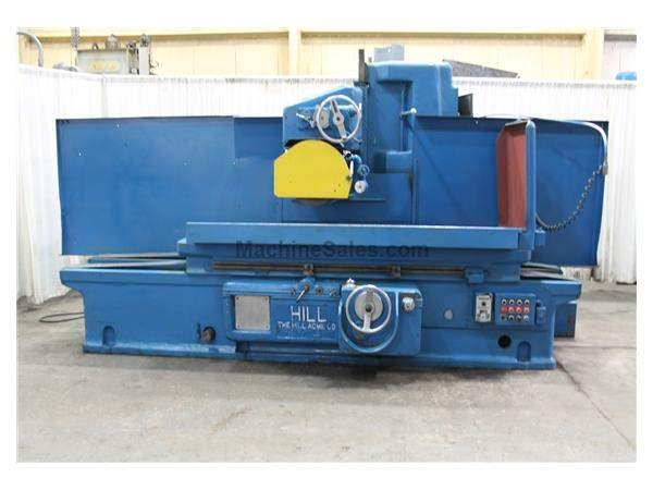 "18"" X 60"" HILL ACME HORIZONTAL SURFACE GRINDER:  STOCK #14699"