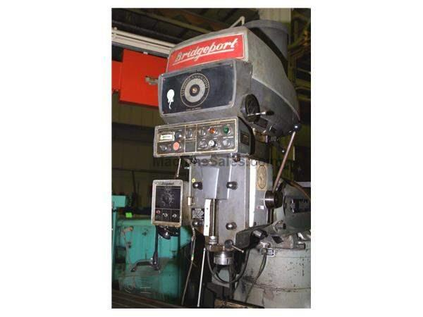 4 HP BRIDGEPORT RAM TYPE VERTICAL MILL: STOCK #18644
